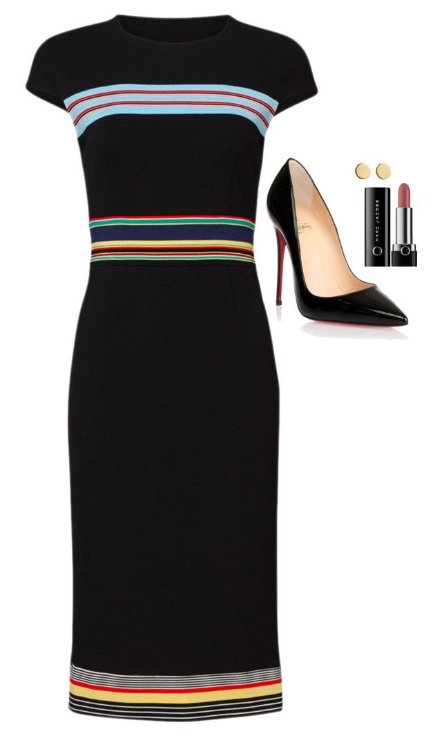 """""""Felicity Smoak Inspired Outfit"""" by daniellakresovic ❤ liked on Polyvore featuring Diane Von Furstenberg, Christian Louboutin, Marc Jacobs and Loren Stewart"""