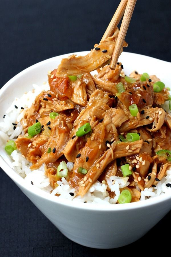 Easy Slow Cooker Hawaiian Sticky Chicken Dinner Recipe : the whole family will love this one!