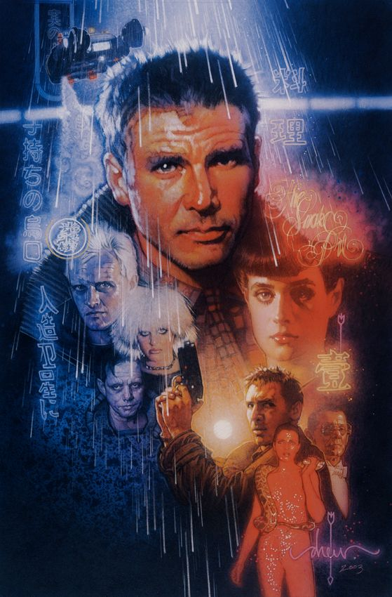 The Magical Movie Poster Art of Drew Struzan | Blade Runner, 25th Anniversary Edition (2007)The studio used John Alvin's image for the original Blade Runner theatrical release poster, but Ridley Scott chose Struzan's artwork, orginally commissioned back in '82, for the 25th Anniversary Edition. Drew Struzan | WIRED.com