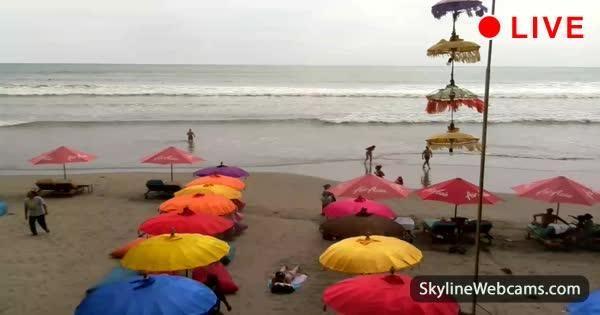 Bali, view of Jalan Mesari Beach from La Plancha