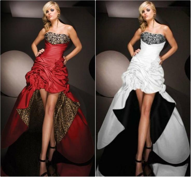 Red one wedding dress