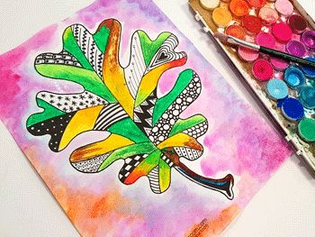Materials: Oak Leaf Template Black Pens Oil pastels Watercolors   Name: Email: