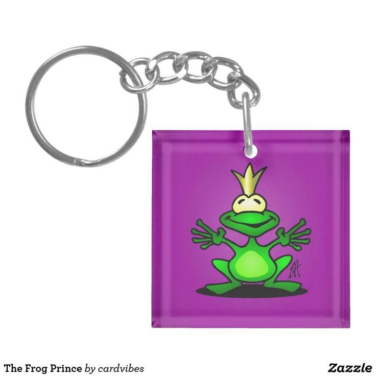 The Frog Prince Keychain  #frog #frogprince #keychain #Zazzle #Cardvibes #Tekenaartje #SOLD