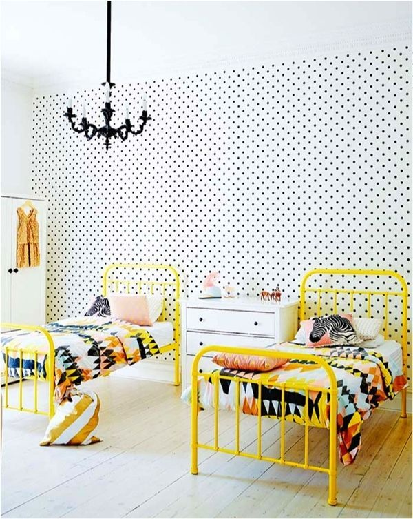 17 best ideas about kids room wallpaper on pinterest for Bright yellow bedroom ideas
