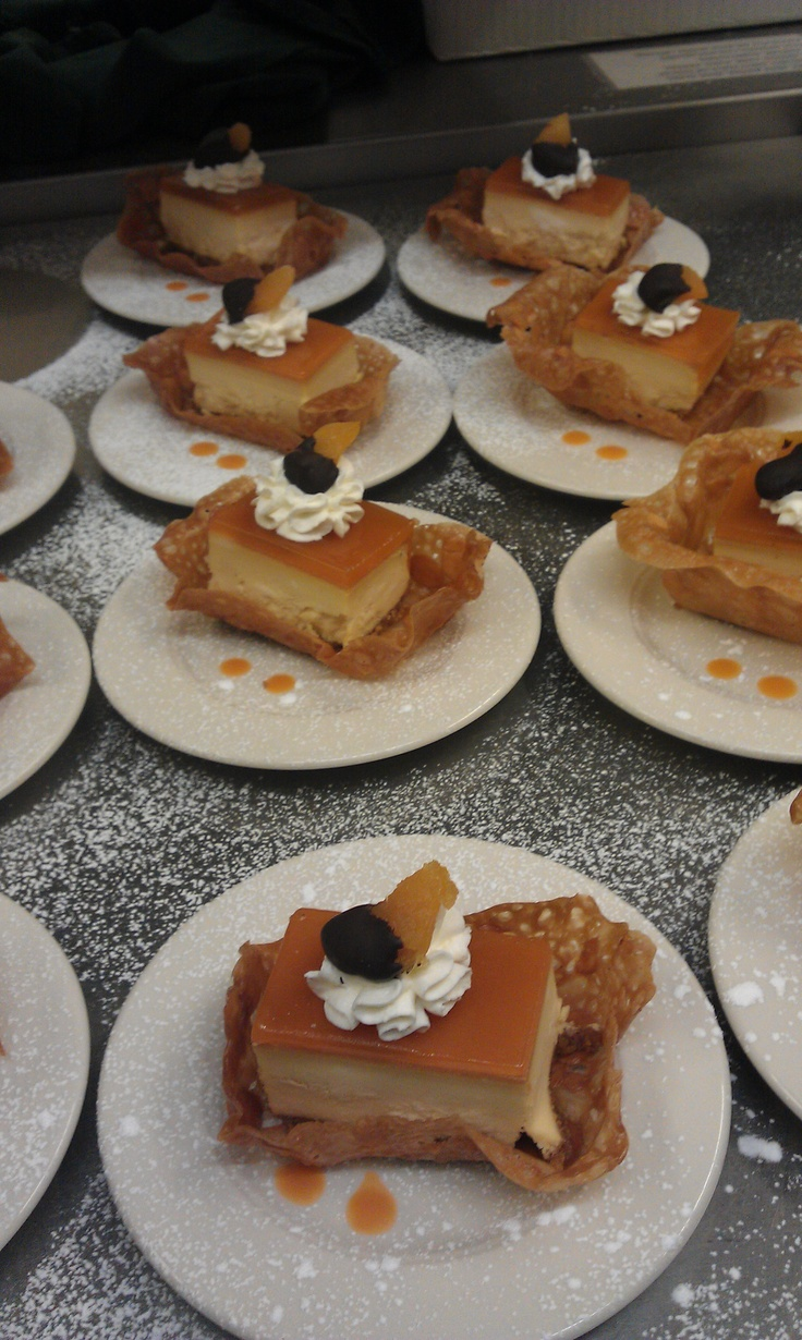 Individual Apricot Cheesecakes in Almond Tuile Baskets - Harvest Grill @ Shelton Vineyards 2012 Vintner Tasting