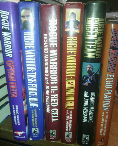 RICHARD MARCINKO ROGUE WARRIOR BOOK LOT OF 6 BOOKS