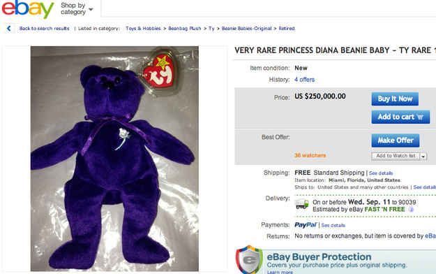 This one is a bargain at $100,000 cheaper. | Some Beanie Babies Are Still Worth Something