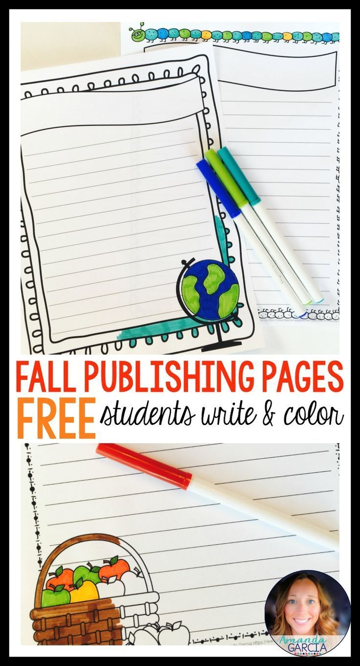 Looking for something fun to motivate your writers this fall? Students can publish their writing on these fall themed writing pages. And who doesn't love coloring? Final drafts never looked so cute! Perfect for back to school, Halloween, and Thanksgiving!