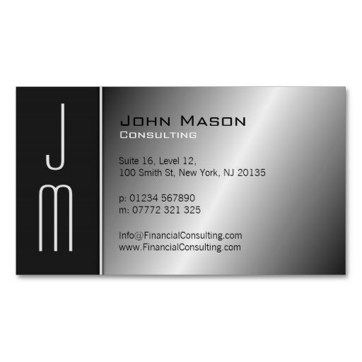 54 best red business cards images on pinterest business cards black and steel monogram professional business card this is a fully customizable business card and reheart Image collections