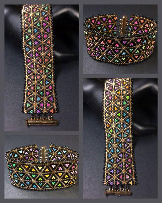 PATTERN Single Peyote Gradient Triangles Bracelet …
