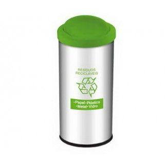 Lixeira Basculante Residuos Reciclavel Verde