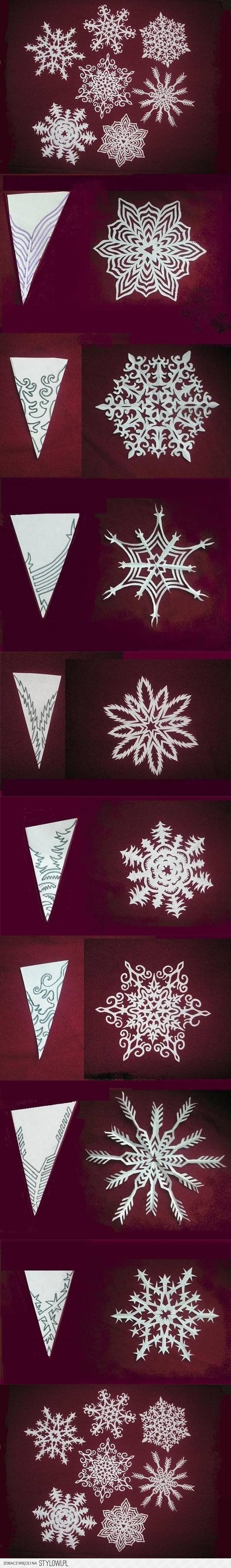 DIY Snowflakes Paper Pattern Tutorial DIY Projects