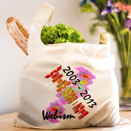 Webism Celebration Reusable Shopping Bag on CafePress.com