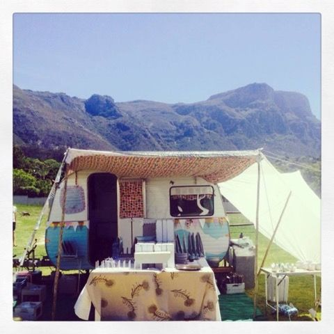 When Clay Art goes to an art market, Miss Daisy, a vintage 1975 Jurgens Caravan which was restored by me and my handyman, is used to display the ceramic tableware.   Here we are set up at the Constantia Girft Fair of 2014