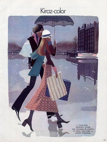 Edmond Kiraz 1973 Shopping in the Rain