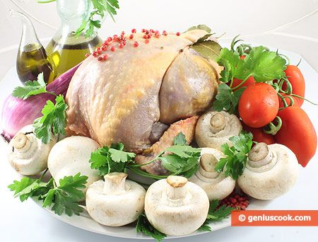 How to Make Guinea Fowl with Mushrooms, Pink Pepper and Tomatoes | Meat Dishes | Genius cook - Healthy Nutrition, Tasty Food, Simple Recipes