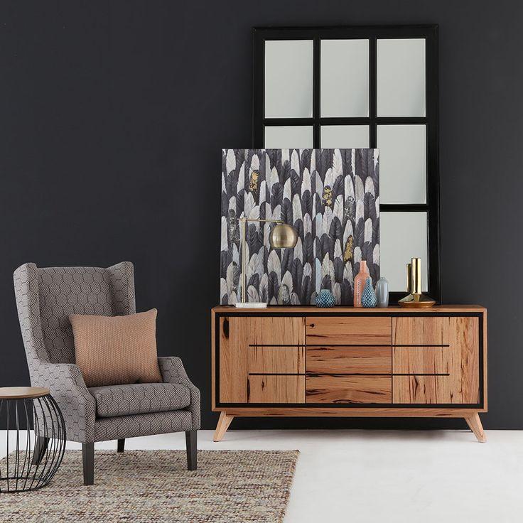 Beautiful interior - Australian made WILLOW designer chair and RUBY buffet #australianmade #design #interiorstyling