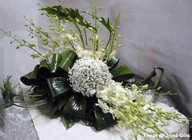 Floral Lena Góis: Brancos e verde