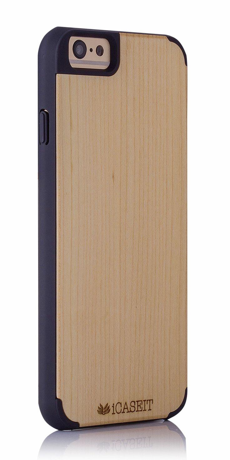 Amazon.com: iCASEIT Wood iPhone Case - Genuinely Natural, Unique & Premium quality for iPhone 6 - Rainbow / Black: Cell Phones & Accessories