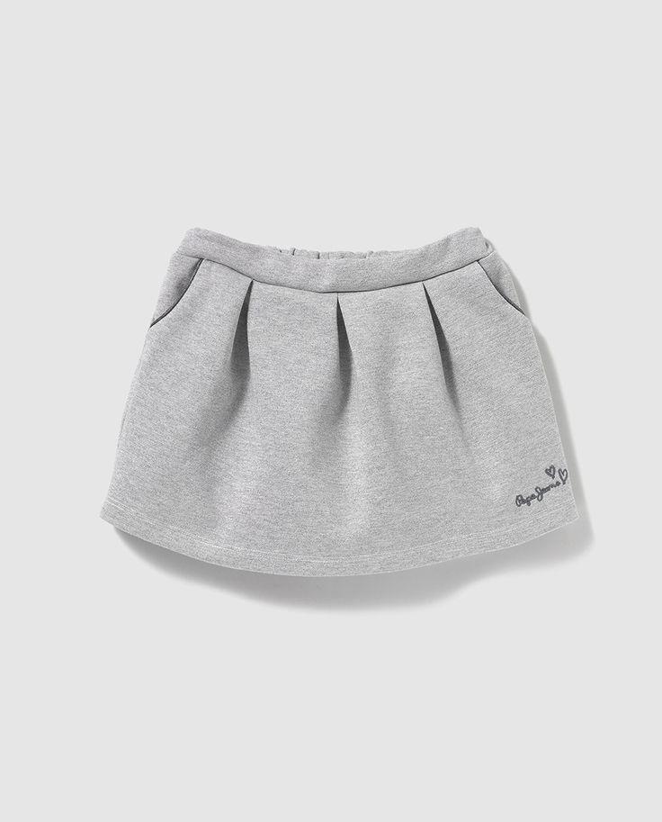 Falda de niña Pepe Jeans en gris con tablones