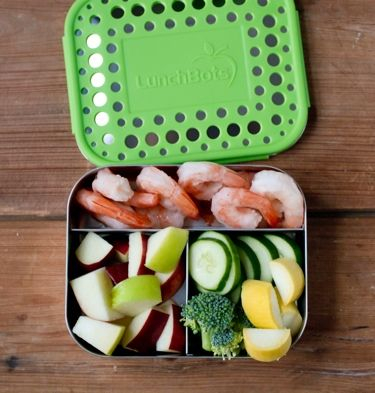 LunchBots Trio with Dots Stainless Steel 3 Compartment Food Container