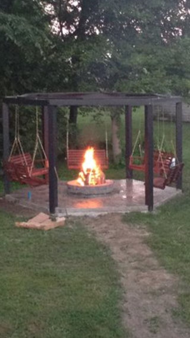 Fire pits on pinterest fire pit swings fire pits and pallet swings