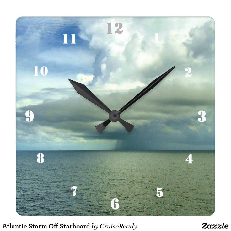 Atlantic Storm Off Starboard Square Wall Clock for #weather buffs #storm