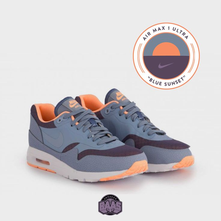 """#nike #airmaxone #airmax1 #am1essentials #airmax1ultra #sneakerbaas #baasbovenbaas  Nike Air Max 1 Ultra Essentials """"Blue Sunset"""" - Now available online, priced at € 134,99  For more info about your order please send an e-mail to webshop #sneakerbaas.com!"""