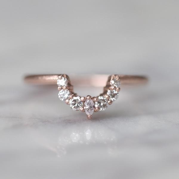 289debcad1930 Abby diamond basket contour band, Matte, 14k Rose Gold | someday in ...