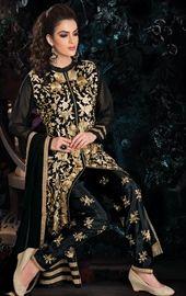 Picture of Splendid Black Color Pent Kameez