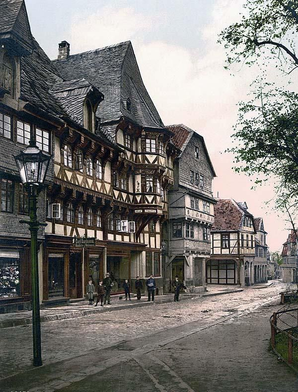 Market Street, Goslar, Hartz, Germany c.1890  I went there 2010 and it hasn't changed much x