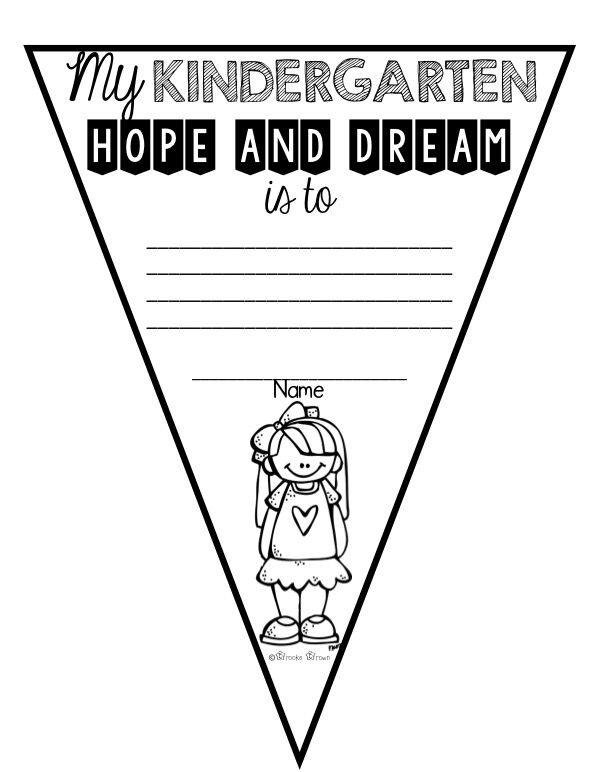 "Responsive Classroom ""Hopes and Dreams"" pennants for grades K-6!"