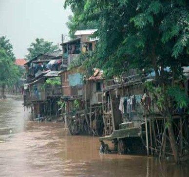 Jakarta slum homes