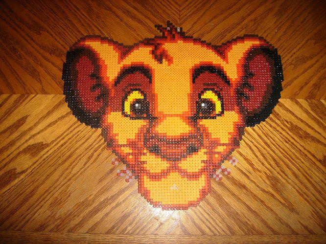 Simba perler beads by ~gaiarage on deviantART