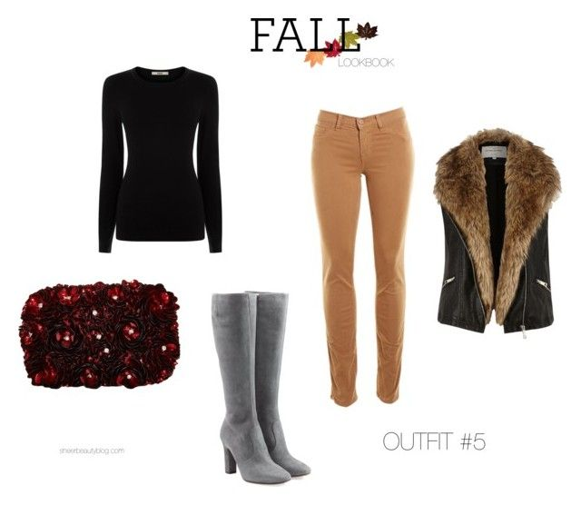 """FALL LOOKBOOK OUTFIT #5"" by sheerbeauty on Polyvore featuring L'Autre Chose, J Brand, Alice + Olivia, Oasis and River Island"