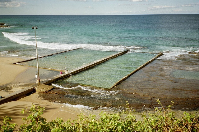 Ocean Baths, Austinmer, NSW Australia .. a lovely place for the kids to swim  I spent many a day @ these Baths great to see them again Delerie