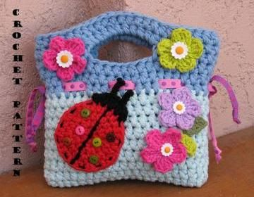 Girls Bag / Purse With Ladybug And ..