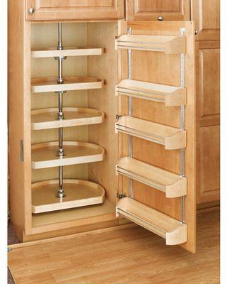 Rev-A-Shelf 5-Tier Wood D-Shape Cabinet Lazy Susan