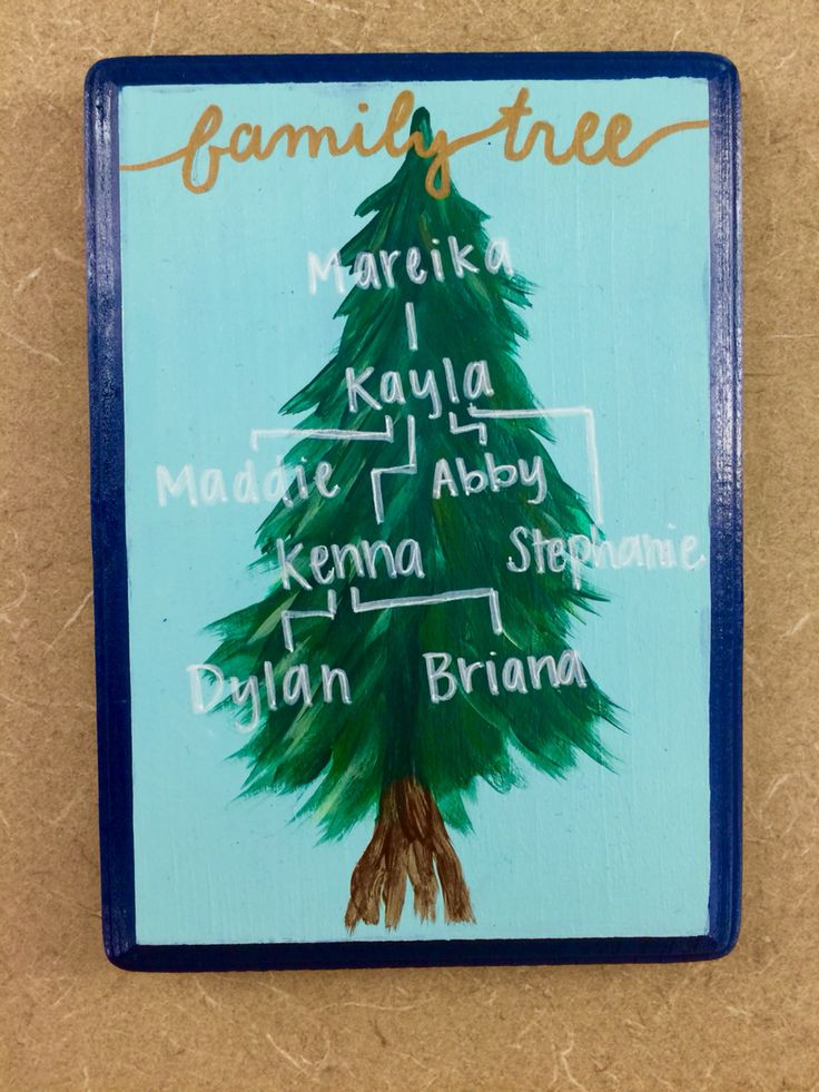 Family tree! #sorority #family #tree #tri #delta #big #little #craft #painted