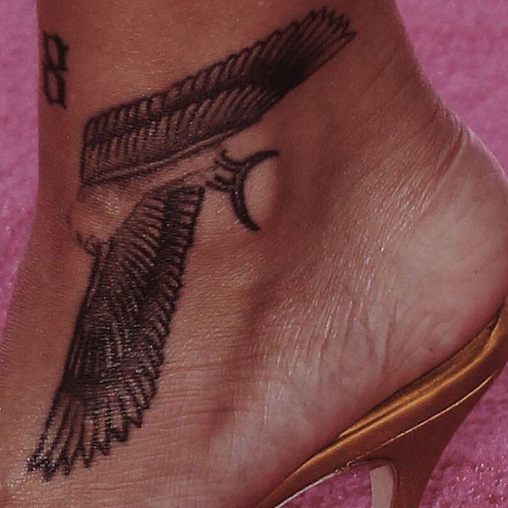 Rihanna ankle tattoo