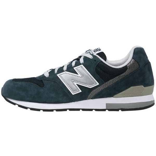 New Balance MRL996 Trainers navy (€105) ❤ liked on Polyvore featuring shoes, dark blue, synthetic shoes, round cap, flat shoes, navy flat shoes and new balance footwear