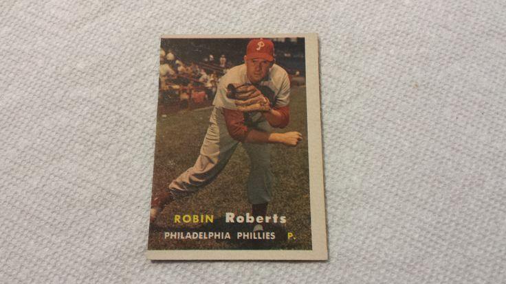 1957 Topps Robin Roberts single baseball card