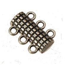 Многослойные браслеты магнит фермуаров своими руками винтажный серебро металл 3 отверстия браслеты крючки переключение ювелирные изделия выводы 18 * 13 мм 20 шт.(China (Mainland))