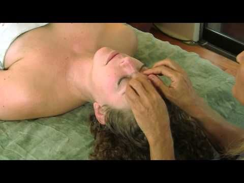 Face  Head Massage Therapy Techniques w/ Oil; How To Give Relaxing Spa Massage
