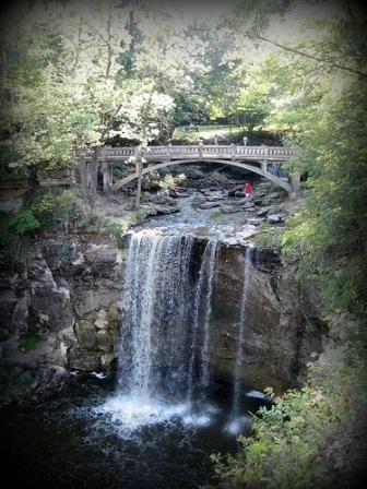 Minneopa Falls-Minneopa State Park near Mankato, Minnesota