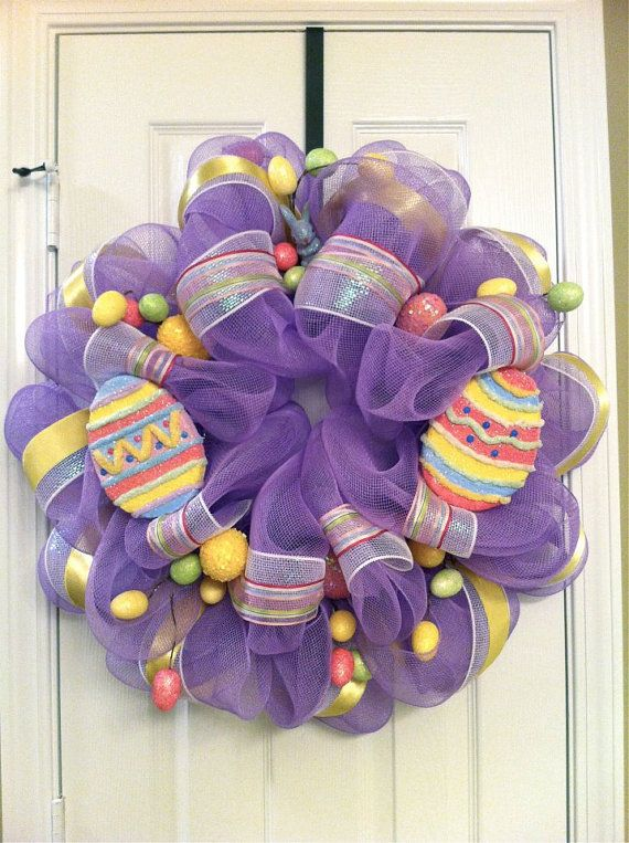 Britt....are u ready to have a wreath party??(Deco Mesh Wreath for Easter)