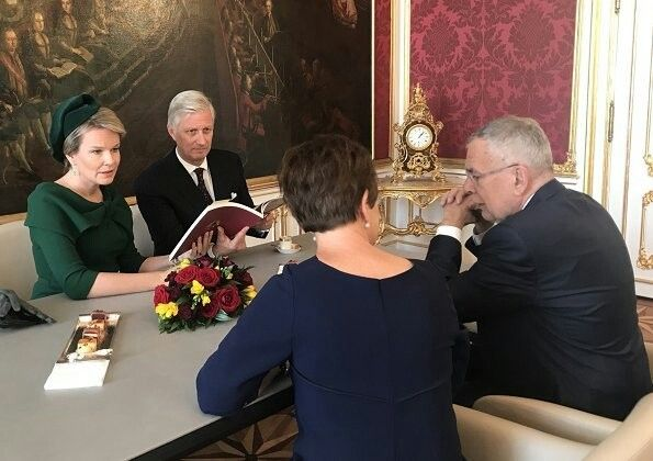 King Philippe And Queen Mathilde Of Belgium Visited Vienna The