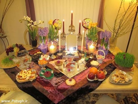 Haft-Seen (Persian: هفتسین) or the seven 'S's is a traditional table setting of Nowruz, the traditional Iranian spring celebration. The haft seen table includes seven items all starting with the letter seen in the Persian alphabet