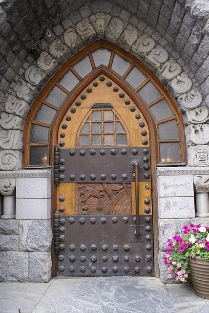 Wood and metal door in Finland~