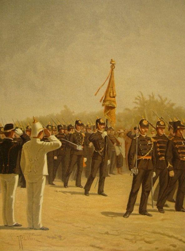 J. Hoynck van Papendrecht - Infanterie O.I. leger, Groote en kleine tenue (1896)